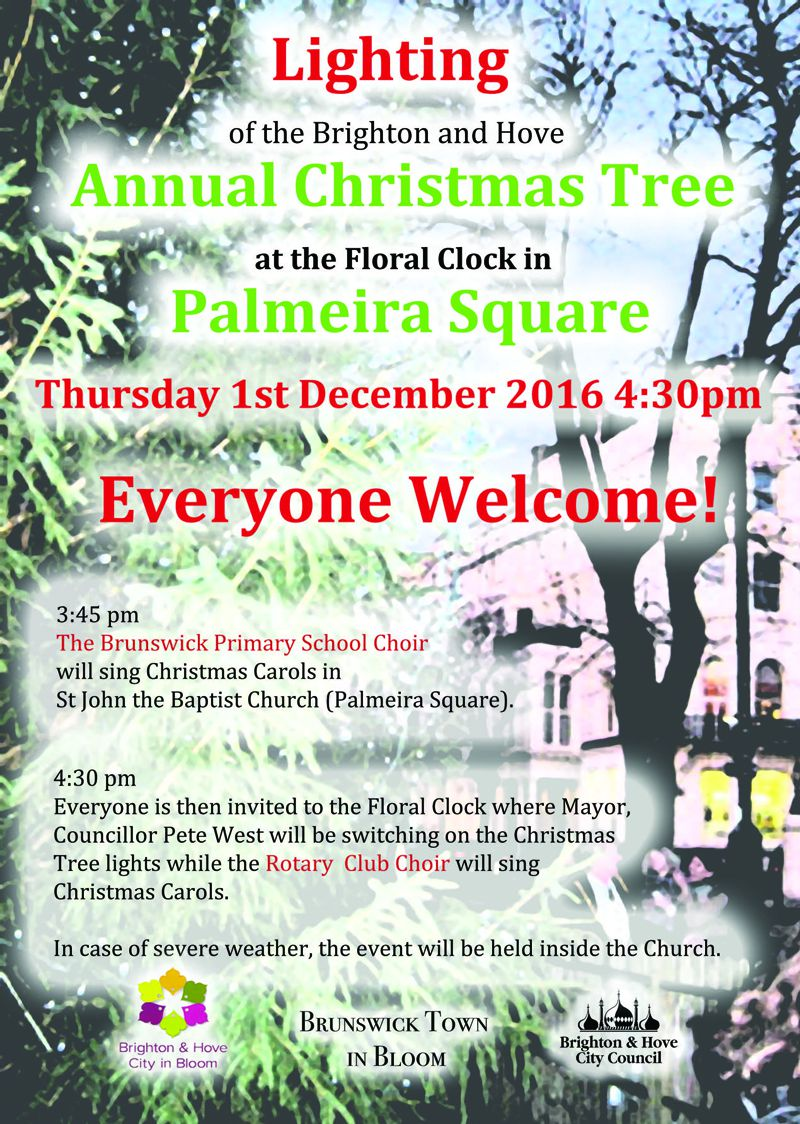 Lighting of the Christmas Tree: 1st Dec at 4.30pm